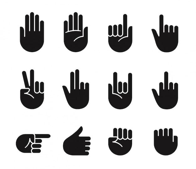 Iconos de gestos con las manos