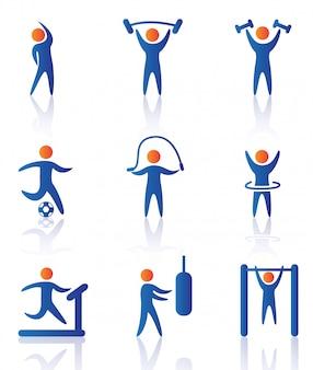 Iconos de gimnasio