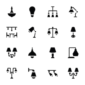 Iconos de glifo de accesorios de luz