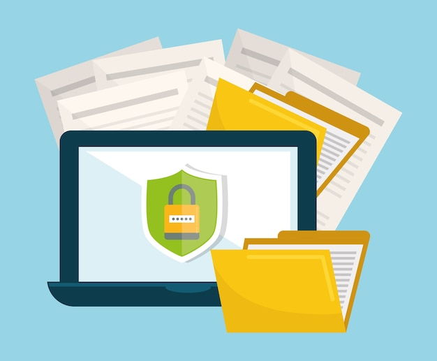 Iconos gráficos del sistema de privacidad y seguridad