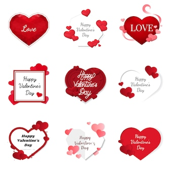 Iconos de ilustración del día de san valentín