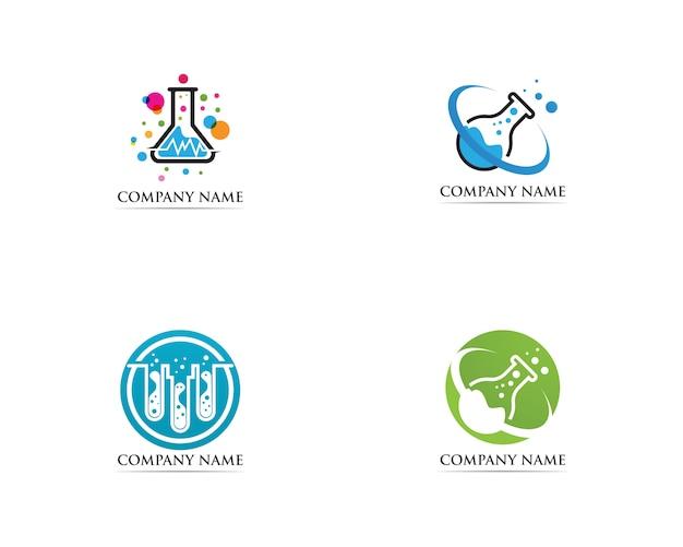 Iconos de la ilustración de la plantilla del icono del logotipo del laboratorio