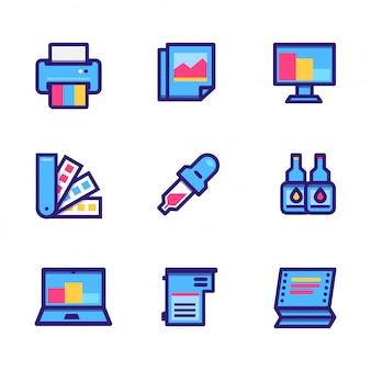 Íconos de impresoras y accesorios