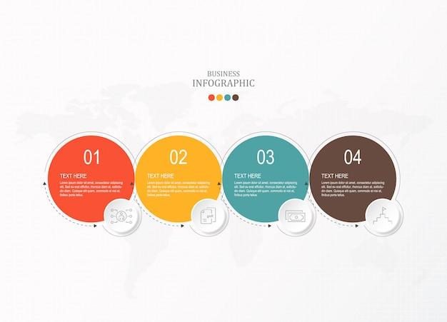 Iconos y infografías de círculos básicos