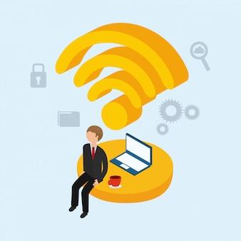 Iconos isométricos conjunto de negocios