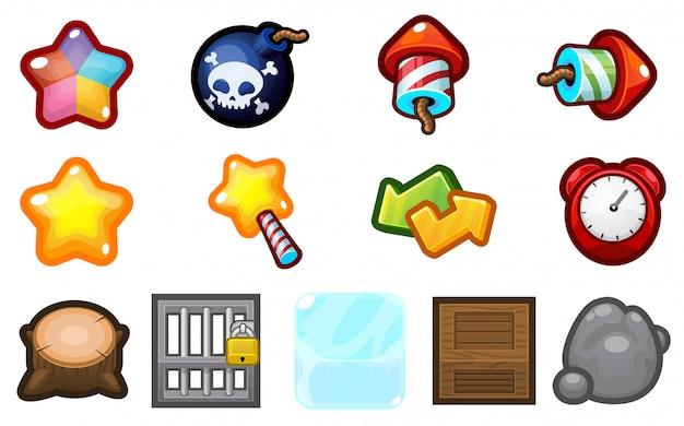 Iconos de juegos de rompecabezas