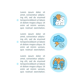 Iconos de línea de concepto de fuentes naturales con texto