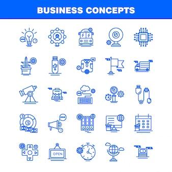 Iconos de línea de conceptos de negocio