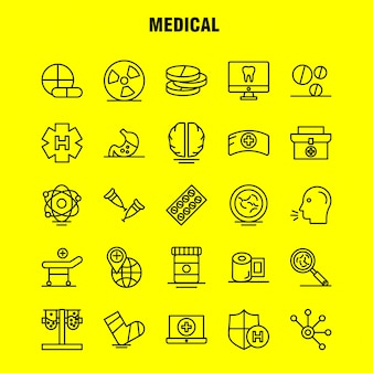 Iconos de línea médica
