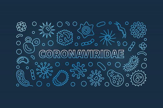 Iconos lineales del concepto coronaviridae