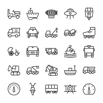 Iconos de líneas de automóviles