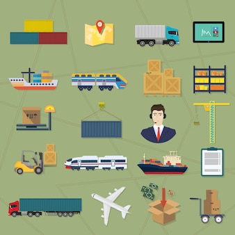 Iconos logísticos.