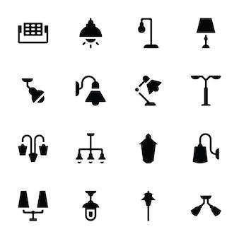 Iconos de luces y accesorios colgantes