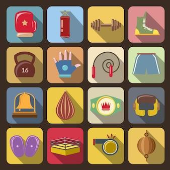Iconos de lucha de caja
