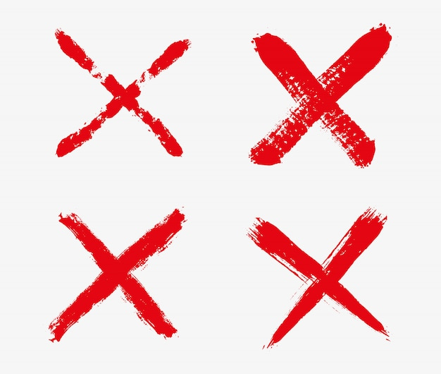 Iconos de la marca de la cruz roja