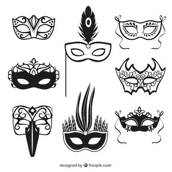 Iconos de máscara de carnaval