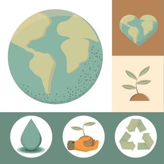 Iconos medioambientales y sostenibles