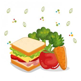 Iconos de menú de comida deliciosa