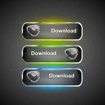 Iconos modernos de descarga