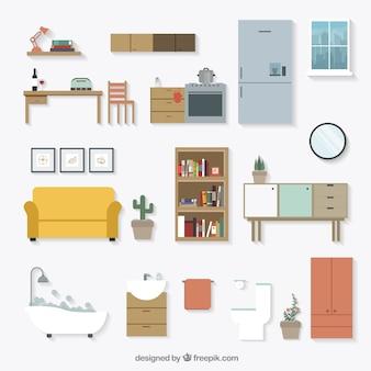 Iconos muebles para el hogar