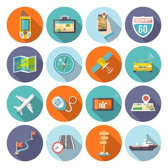 Iconos de navegación planos