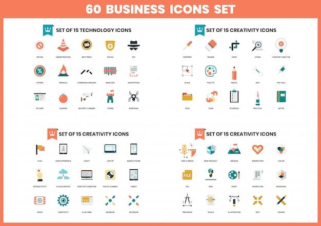 Iconos de negocios establecidos para negocios