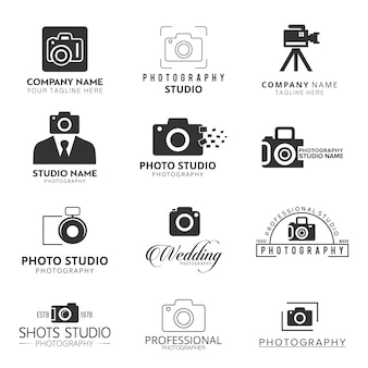 Iconos negros para fotógrafos