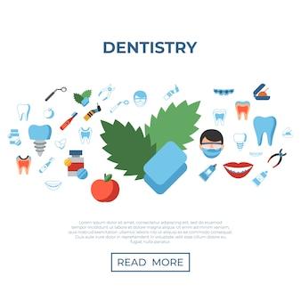Iconos de odontología y salud.