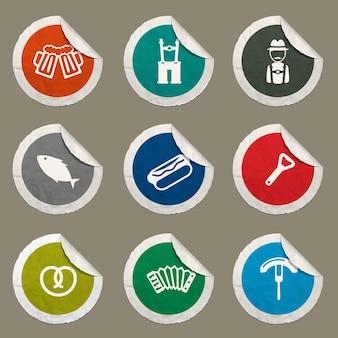 Iconos de oktoberfest para sitios web e interfaz de usuario