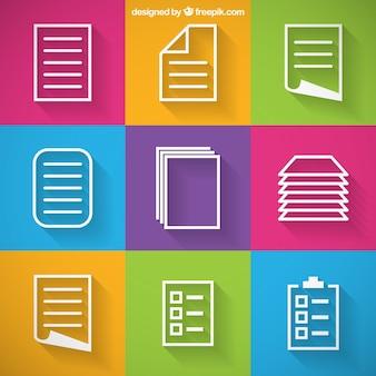 Iconos de papel