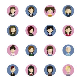 Iconos de peinados de mujer