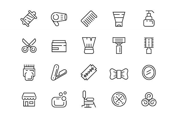 Iconos de peluquería