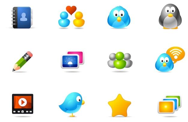 Iconos philos - set 10 | medios de comunicación social