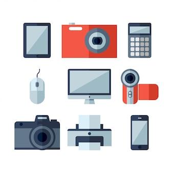 Iconos planos de electrodomésticos