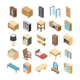 Iconos planos interiores del hogar