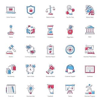 Iconos planos de negocios
