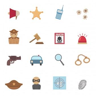 Iconos de policia