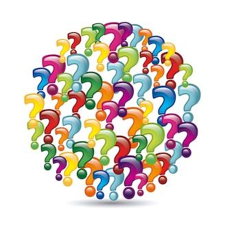 Iconos de preguntas sobre fondo blanco ilustración vectorial