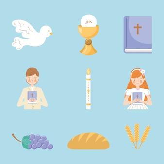 Iconos de primera comunión