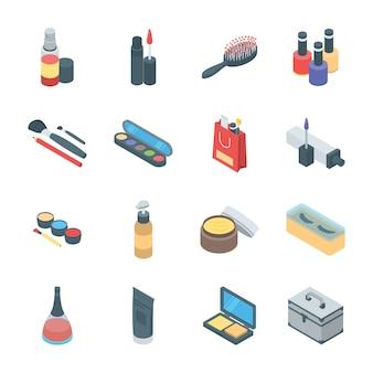 Iconos de productos de belleza y cosméticos