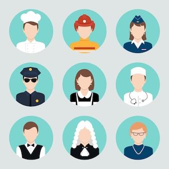 Iconos con profesiones