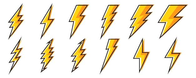 Iconos de rayos -