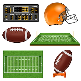 Iconos realistas de fútbol americano