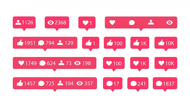 Iconos de redes sociales planas