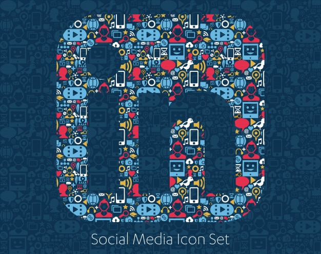 Iconos de redes sociales, red, concepto de computadora.