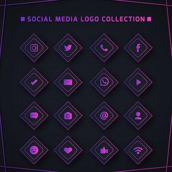 Iconos para redes sociales.