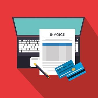Iconos relacionados con la economía de facturas