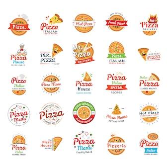 Iconos de restaurante italiano de pizza