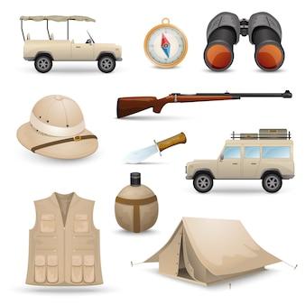 Iconos de safari para la caza