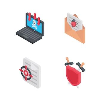 Iconos de seguridad cibernética